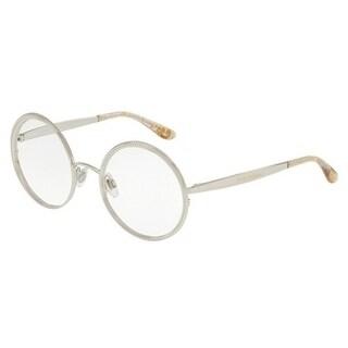 Dolce & Gabbana Women's DG1297 5 52 Silver Round Metal Eyeglasses
