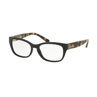 dc0f796248c Shop Coach Women s HC6104 5449 52 Black Dark Vintage Tortoise Square  Plastic Eyeglasses - Free Shipping Today - Overstock - 17962764
