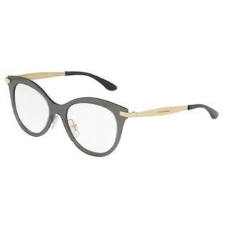 Dolce & Gabbana Women's DG1292 2 53 Smoke Cateye Metal Eyeglasses
