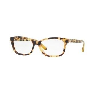 7b87bed4ed Burberry Women  x27 s BE2249 3278 52 Light Havana Rectangle Plastic  Eyeglasses