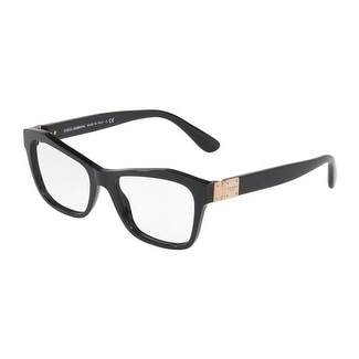 33659280b5d Shop Dolce   Gabbana Women s DG3273 501 51 Black Rectangle Plastic  Eyeglasses - Free Shipping Today - Overstock - 17962814