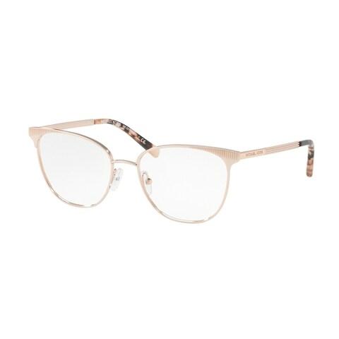 Michael Kors Women's MK3018 1194 54 Rose Gold-Tone Square Metal Eyeglasses