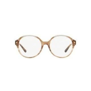 Michael Kors Women's MK4041F 3235 53 Brown Floral Round Plastic Eyeglasses