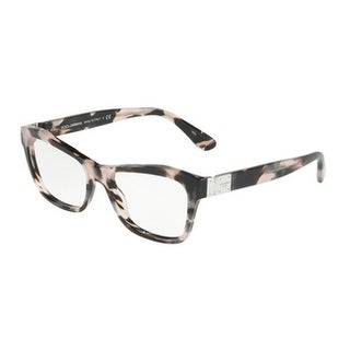 Dolce & Gabbana Women's DG3273 3120 53 Pearl Grey Havana Rectangle Plastic Eyeglasses