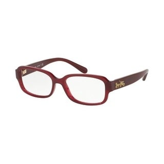 Coach Women's HC6105F 5450 53 Aubergine Rectangle Plastic Eyeglasses