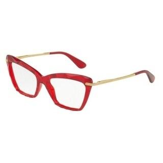 Dolce & Gabbana Women's DG5025 3147 53 Transparent Bordeaux Cateye Plastic Eyeglasses