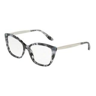 Dolce & Gabbana Women's DG3280 3132 54 Cube Black/Silver Cateye Plastic Eyeglasses