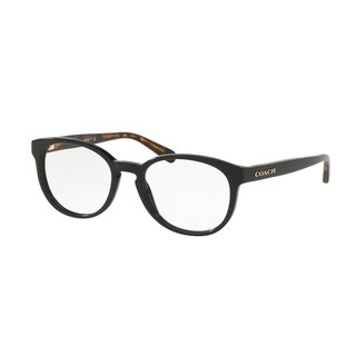 Coach Women's HC6102 5442 51 Black/ Black Tortoise Rectangle Plastic Eyeglasses