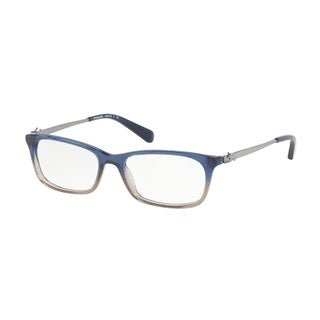 Coach Women's HC6110 5489 52 Denim Taupe Glitter Gradient Rectangle Plastic Eyeglasses