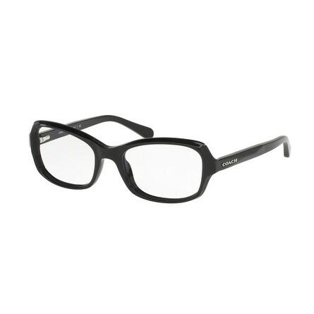 1b30e9acb3e Shop Coach Women s HC6097F 5002 53 Black Rectangle Plastic Eyeglasses -  Free Shipping Today - Overstock.com - 17962983