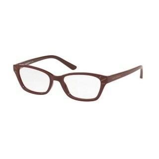 Tory Burch Women's TY4002 1681 52 Bordeaux Rectangle Plastic Eyeglasses - Burgundy
