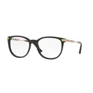 Burberry Women's BE2255QF 3001 53 Black Square Plastic Eyeglasses