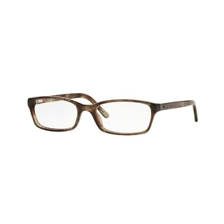 Burberry Women's BE2073 3470 53 Spotted Grey Rectangle Plastic Eyeglasses