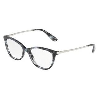 Dolce & Gabbana Women's DG3258F 3132 54 Cube Black/Silver Rectangle Plastic Eyeglasses