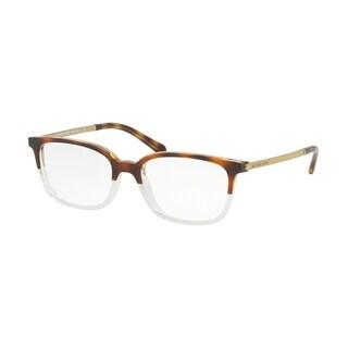 Michael Kors Women's MK4047 3281 53 Dark Tortoise/Crystal Rectangle Plastic Eyeglasses