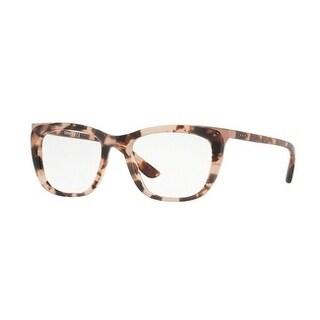 Donna Karan New York Women's DY4680 3731 52 Pink Tortoise Square Plastic Eyeglasses