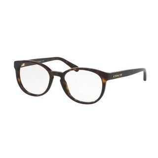 Coach Women's HC6102 5120 51 Dark Tortoise Rectangle Plastic Eyeglasses