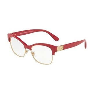 Dolce & Gabbana Women's DG3272 3097 54 Fuxia Rectangle Plastic Eyeglasses