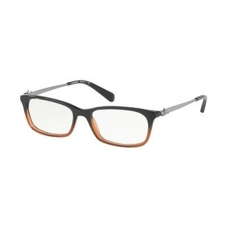 f40c2907a5 Shop Coach Women s HC6110 5475 50 Black Amber Glitter Gradient Rectangle  Plastic Eyeglasses - Free Shipping Today - Overstock - 17963179