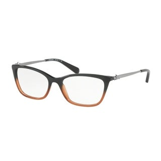 Coach Women's HC6107 5475 52 Black Amber Glitter Gradient Rectangle Plastic Eyeglasses