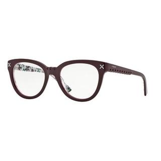Vogue Women's VO2887 2211 51 Top Bordx/Flowers Serigrap Rectangle Plastic Eyeglasses