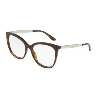 Dolce & Gabbana Women's DG3278F 502 54 Havana Square Plastic Eyeglasses
