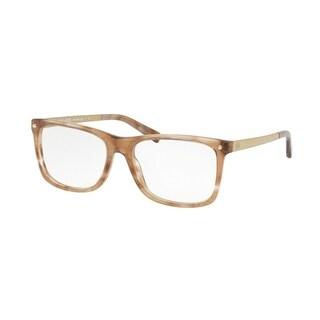 Michael Kors Women's MK4040 3241 52 Brown Floral Square Plastic Eyeglasses