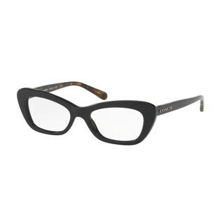 Coach Women's HC6108 5487 50 Black Cateye Plastic Eyeglasses