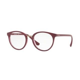 Vogue Women's VO5167F 2555 53 Top Dark Red/Red Transp Oval Plastic Eyeglasses