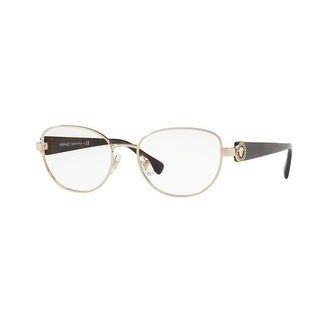 91233b4130d Shop Versace Women s VE1246B 1252 54 Pale Gold Oval Metal Eyeglasses - Free  Shipping Today - Overstock - 17963238