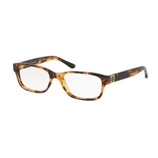 Tory Burch Women's TY2067 1481 50 Vintage Tort Rectangle Plastic Eyeglasses - Tortoise