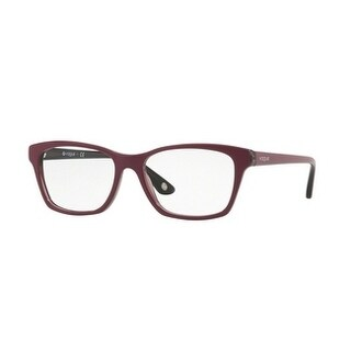 Vogue Women's VO2714 2584 52 Top Dark Red/Red Transp Square Plastic Eyeglasses