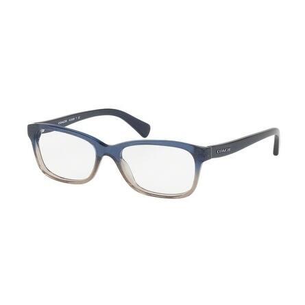 Coach Women's HC6089 5474 49 Denim Taupe Glitter Gradient Rectangle Plastic Eyeglasses