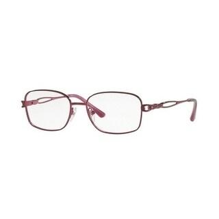 Sferoflex Women's SF2580B 513 49 Borgogna Rectangle Metal Eyeglasses