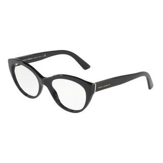 Dolce & Gabbana Women's DG3246 501 53 Black Cateye Plastic Eyeglasses