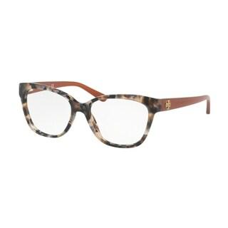 Tory Burch Women's TY2079 1682 51 Pearl Brown Tort Square Plastic Eyeglasses - Tortoise