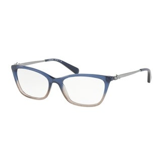 Coach Women's HC6107 5489 52 Denim Taupe Glitter Gradient Rectangle Plastic Eyeglasses