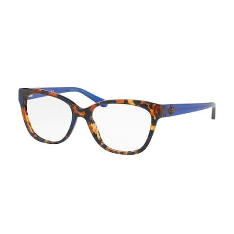 Tory Burch Women's TY2079 1683 53 Blue Flake Tort Square Plastic Eyeglasses - Tortoise