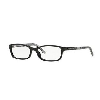 Burberry Women's BE2073 3164 53 Black Rectangle Plastic Eyeglasses