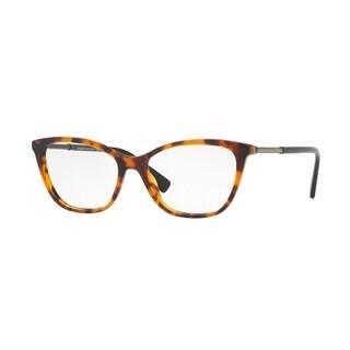 Versace Women's VE3248 5074 54 Havana Cateye Plastic Eyeglasses