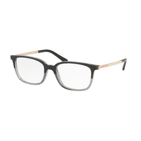 Michael Kors Women's MK4047 3280 53 Black/Transparent Grey Rectangle Plastic Eyeglasses