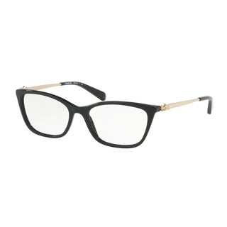 Coach Women's HC6107F 5486 54 Black Rectangle Plastic Eyeglasses