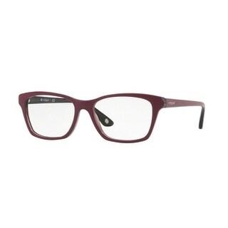 Vogue Women's VO2714 2584 54 Top Dark Red/Red Transp Square Plastic Eyeglasses