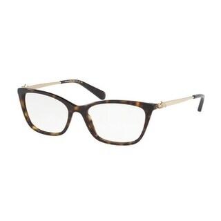 Coach Women's HC6107 5485 52 Dark Tortoise Rectangle Plastic Eyeglasses