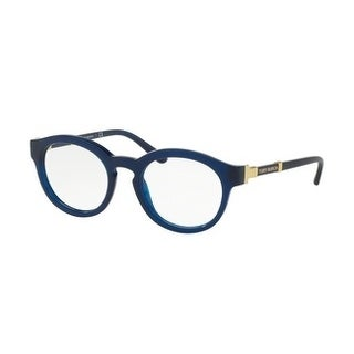 Tory Burch Women's TY2076 1656 48 Navy Rectangle Plastic Eyeglasses - Blue
