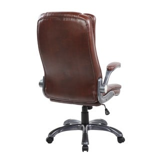 High-back PU Computer Swivel Gaming Office Chair with Chrome Base