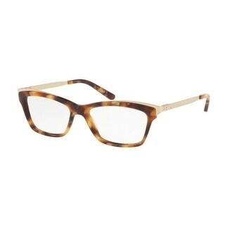 Ralph Lauren Women's RL6165 5615 52 Gold Havana Rectangle Plastic Eyeglasses