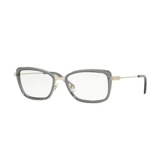 e0439da74c Shop Versace Women s VE1243 1399 52 Pale Gold Grey Transparent Rectangle  Metal Eyeglasses - Free Shipping Today - Overstock - 17963630