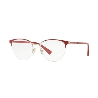 a6cddd79a44 Shop Versace Women s VE1247 1408 52 Red Pale Gold Rectangle Metal Eyeglasses  - Free Shipping Today - Overstock - 17963632