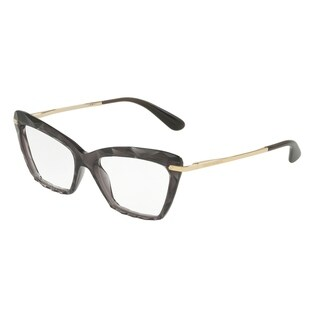 Dolce & Gabbana Women's DG5025 504 53 Transparent Grey Cateye Plastic Eyeglasses